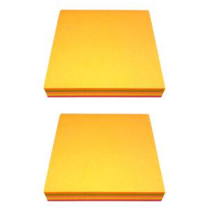 کاغذ یادداشت برچسب دار 100 برگ مدل استیک نوت رنگی بسته 2 عددی