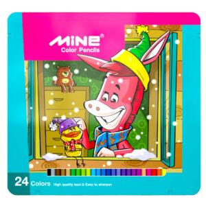 مداد رنگی 24 رنگ ماین کد1-324