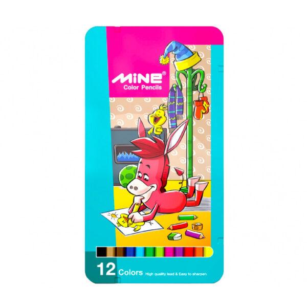 مداد رنگی 12 رنگ ماین کد1-312