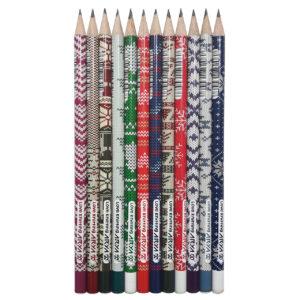 مداد مشکی آریا مدل LOVE KNITTING کد A5 بسته 12 عددی