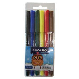 ماژیک رنگ آمیزی 6 رنگ پیکاسو مدل FINE TIP