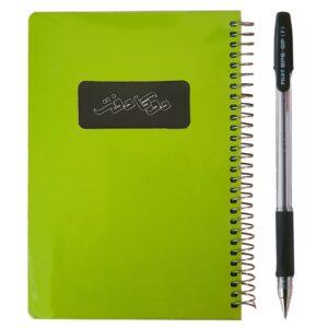 دفتر یادداشت دوکا مدل 1/8 پنجره ای به همراه یک عدد خودکار مشکی پایلوت مدل BPS-F