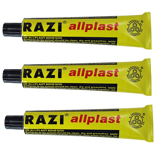 چسب مایع رازی مدل Allplast مجموعه 3 عددی