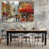 تابلو شاسی سری نقاشی های زیبا مدل کافه کد 493