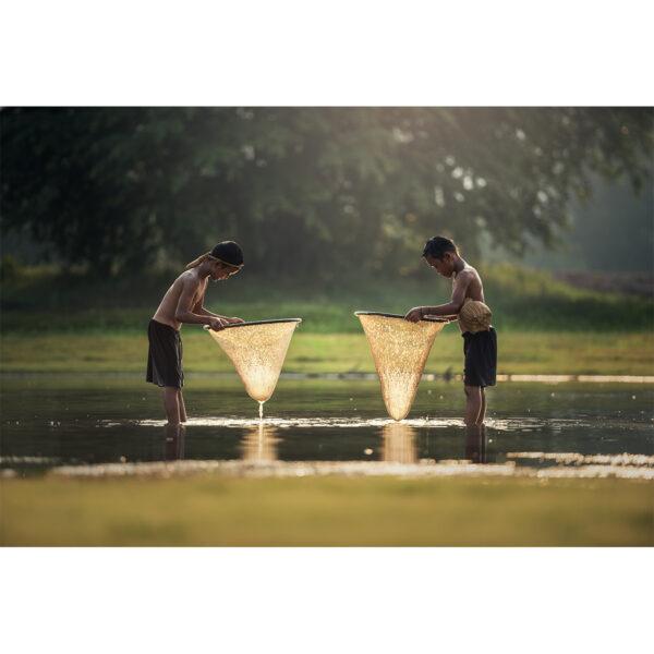 تابلو شاسی مدل پسران ماهی گیر کد 64