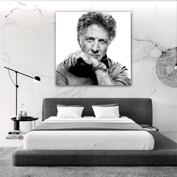 تابلو شاسی طرح پرتره ی هنرمندان مشهور-داستین هافمن کد 79