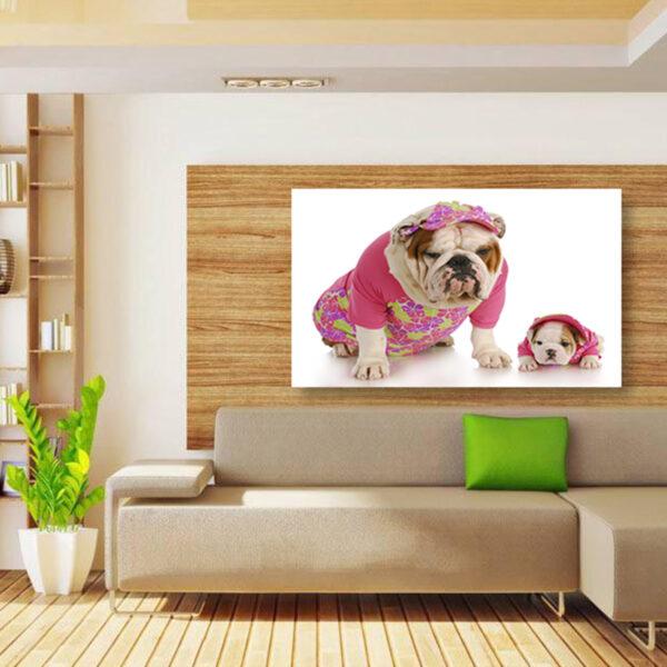 تابلو شاسی سری حیوانات دوست داشتنی طرح سگ های خوش تیپ کد 150