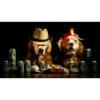 تابلو شاسی سری حیوانات دوست داشتنی طرح سگ های خوش تیپ کد 174
