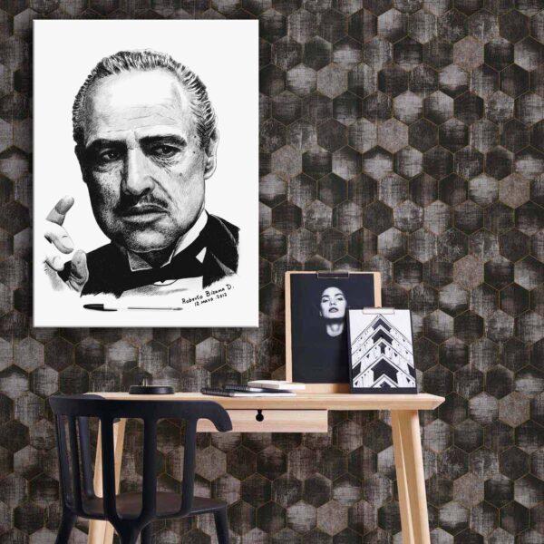 تابلو شاسی مدل برترین عکسهای فیلم و سینما طرح پدر خوانده -hz-کد81